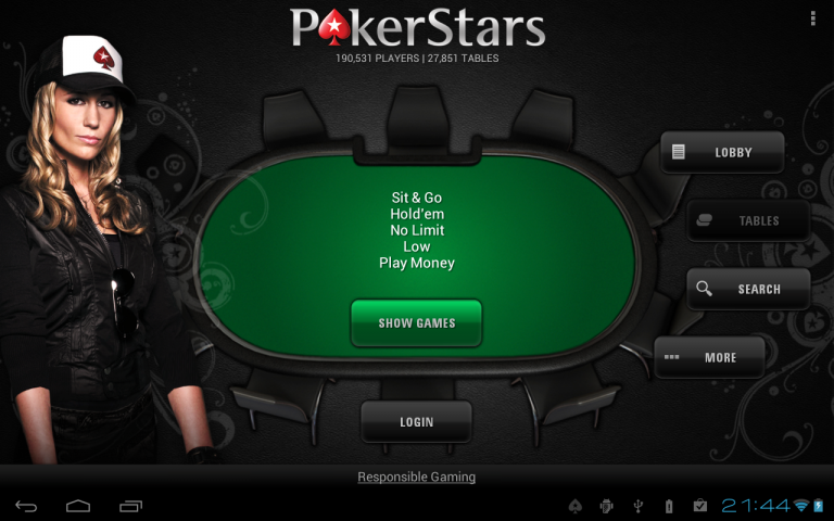 не работает казино в pokerstars на андроиде